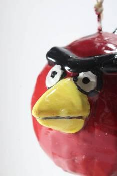 Πασχαλινή λαμπάδα Πουλάκι 3D κόκκινο 11x8x8cm