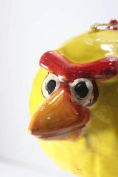 Πασχαλινή λαμπάδα Πουλάκι 3D κίτρινο 11x8x8cm
