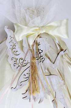 Fairy wooden with gold tassel