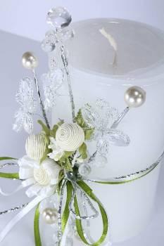 Τυλιχτό 8χ15 cm στολ. λευκό με άρωμα γαρδένια