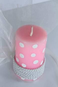 Κερί πουά με άρωμα φράουλα 8x4.5cm
