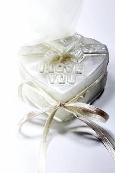 Κέρινη καρδιά ''i love you'' 7*6.5*2.5 σατινέ