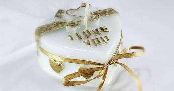 Κέρινη καρδιά ''i love you'' 7*6.5*2.5 χρώμα
