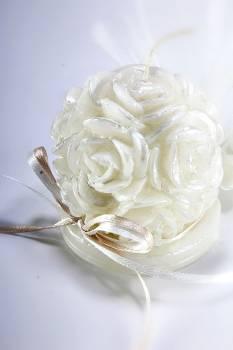Κέρινη μπάλα-λουλούδι 8*7*7 σατινέ