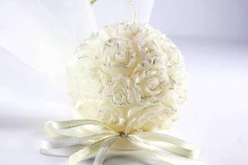 Κέρινη μπάλα-λουλούδι 6*6*6 σατινέ