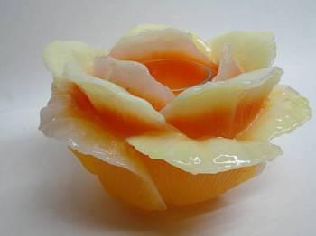 Τριαντάφυλλο xbig πορτοκαλί με ποτηράκι για ρεσώ