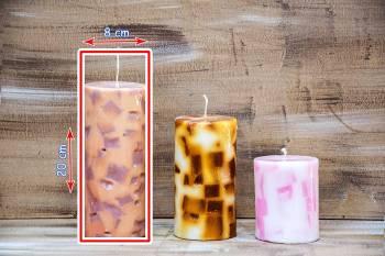 Αρωματικό κερί με κομμάτια 8x20cm