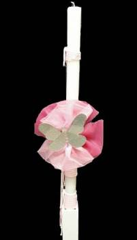 butterfly with  pink  small  organza