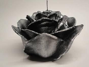 Τριαντάφυλλο διπλό μαύρο-ασημί